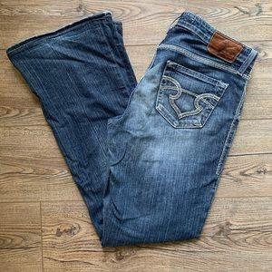 Big Star Maddie Distressed Buckle Jeans Sz 27L